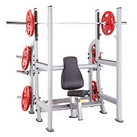 Профессиональные Steelflex Steelflex Plate Load Olympic Military Bench
