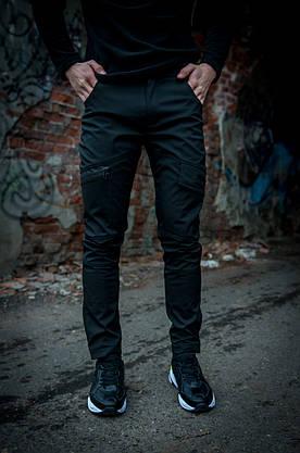 Теплые штаны карго черные Conqueror Intruder + подарок, фото 2
