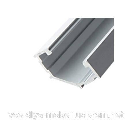 """Профиль """"LL-07-B"""" NEW угловой  L-3000мм для светодиодной ленты, алюминий (133300)"""