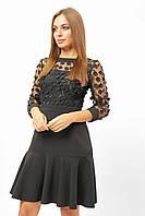 Женское платье с воланом Lipar Чёрное