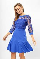 Женское платье с воланом Lipar Электрик