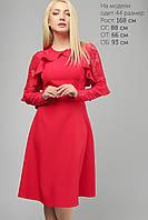 Женское платье с гипюровым рукавом Lipar Красное