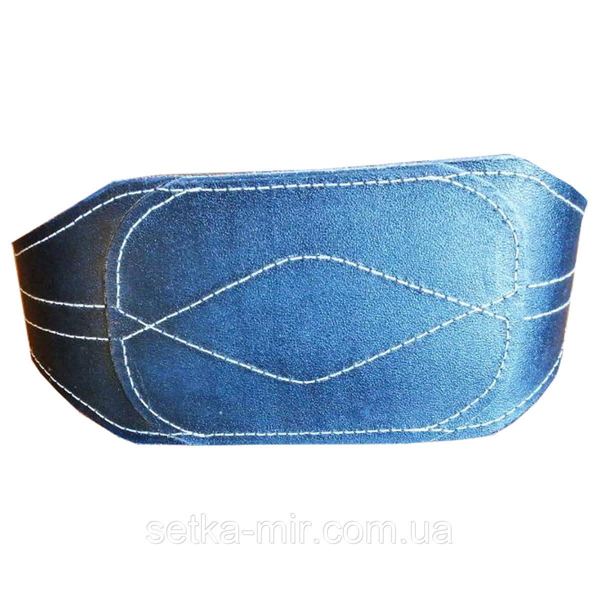 Пояс кожаный тяжелоатлетический 15 х 0,8 см кирза