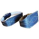 Пояс кожаный тяжелоатлетический 15 х 0,8 см кирза, фото 3