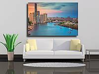 """Картина на холсте """"Городской горизонт Брисбен, Австралия"""""""