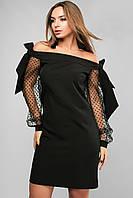 Женское платье с открытыми плечами Lipar Черное