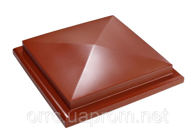 "Крышка на забор бетонная Мегалит ""Пирамида с основанием"" 495х495х100 мм"