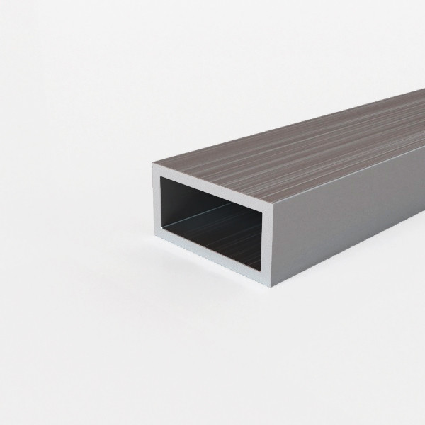 Труба алюминиевая профильная 50х15х1,9 мм АД31Т5 прямоугольная, анодированная