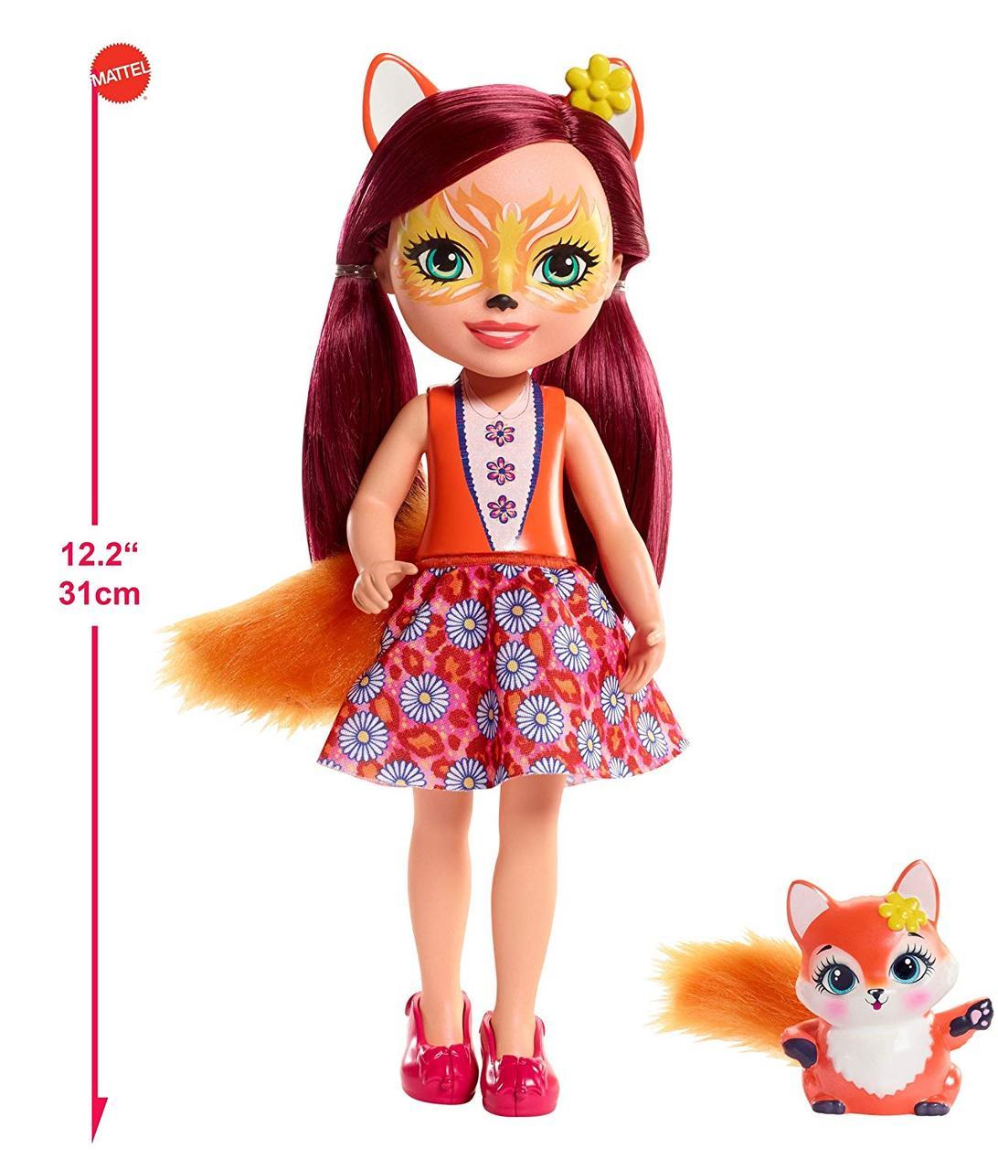 Большая кукла Enchantimals Фелисити Лис с питомцем Felicity Fox Оригинал США