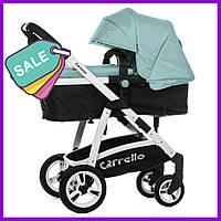 Детская коляска 2в1 универсальная комбинированная Carrello Fortuna коляска трансформер голубая, візок дитячий