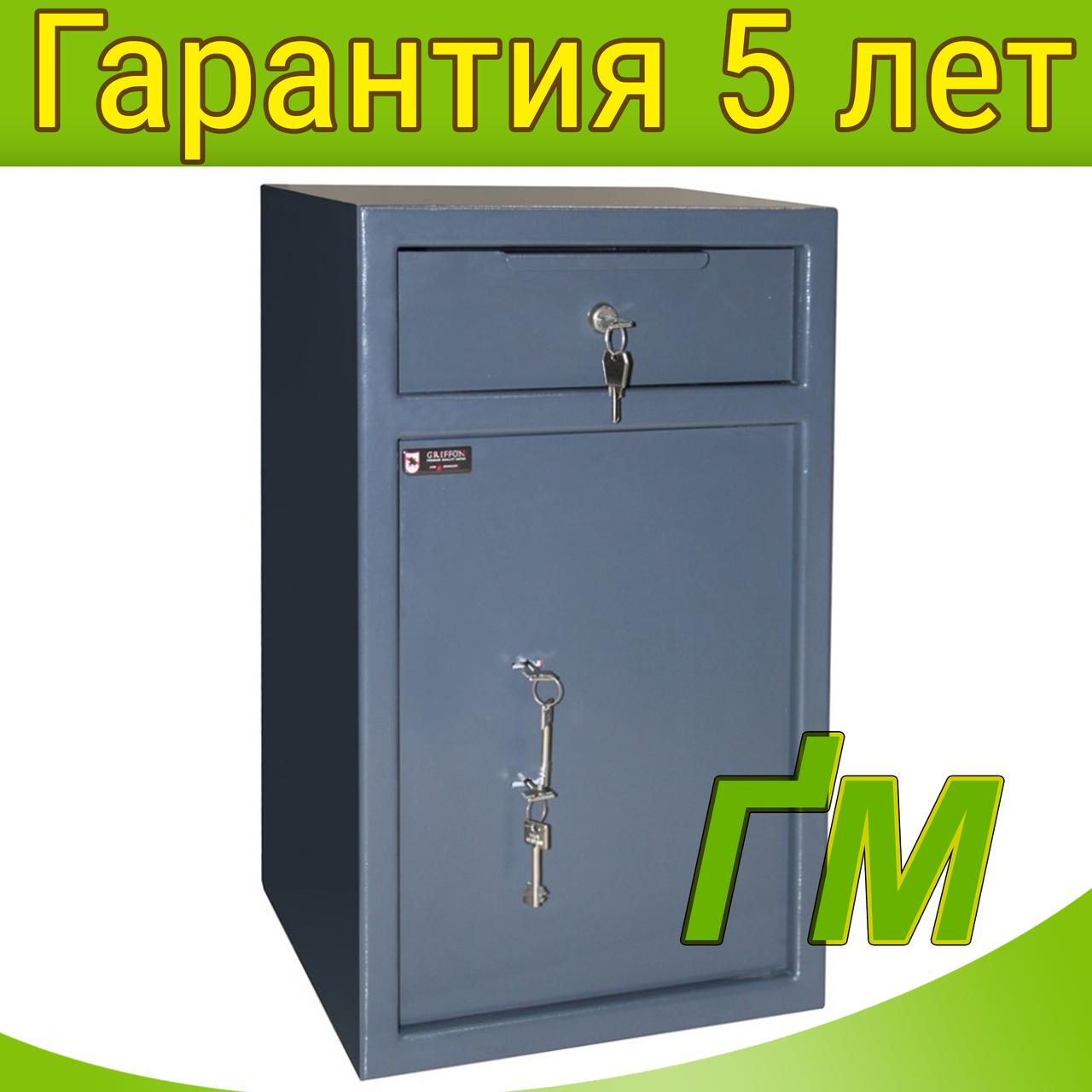Сейф для депонирования RD.60.K.K с ящиком для скрытого вброса купюр (618х380х370мм)