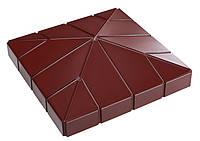 """Крышка на забор бетонная Мегалит  """"Клинкер"""" 555*555*120 мм"""