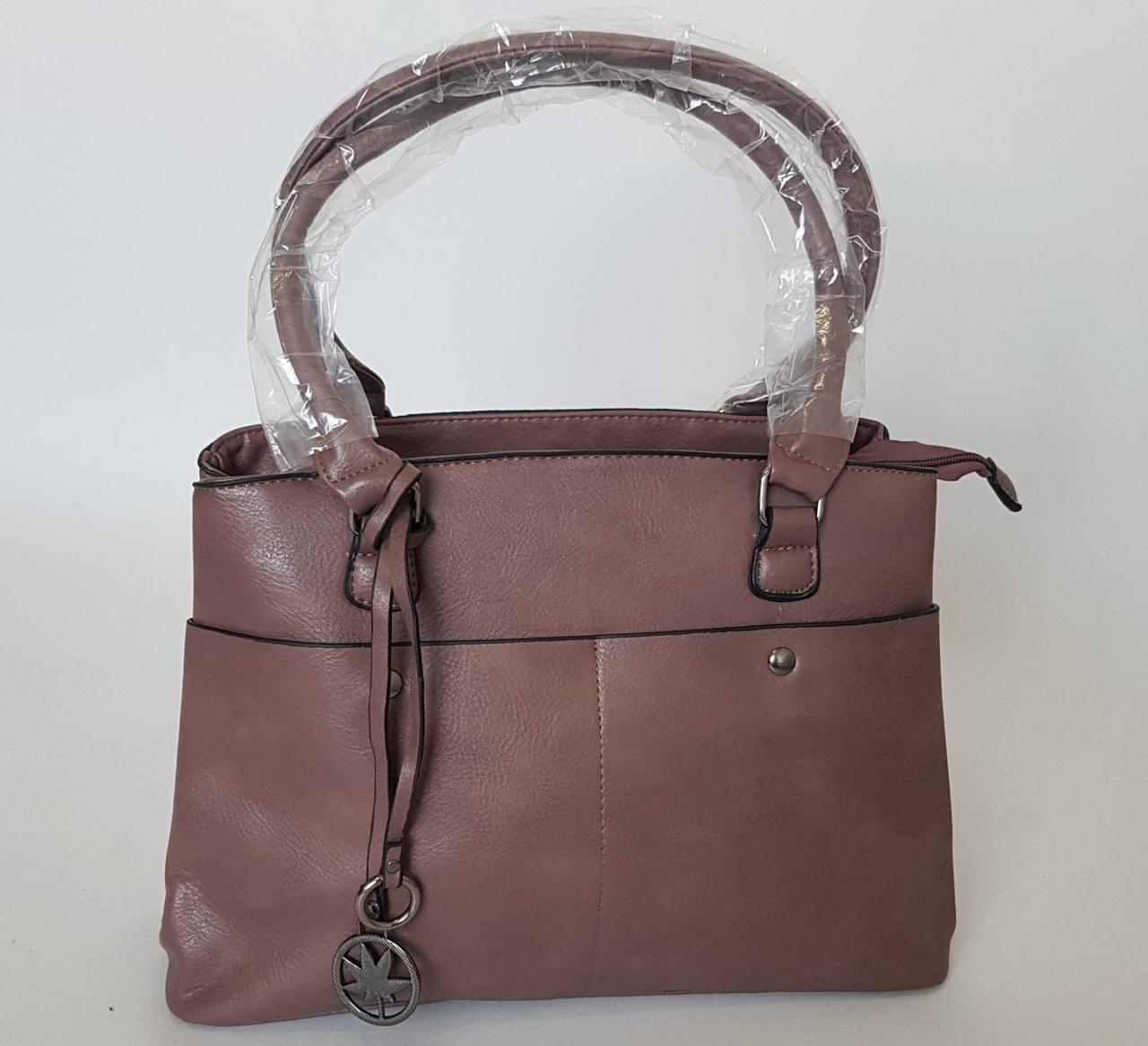 Женская стильная сумка с двумя ручками
