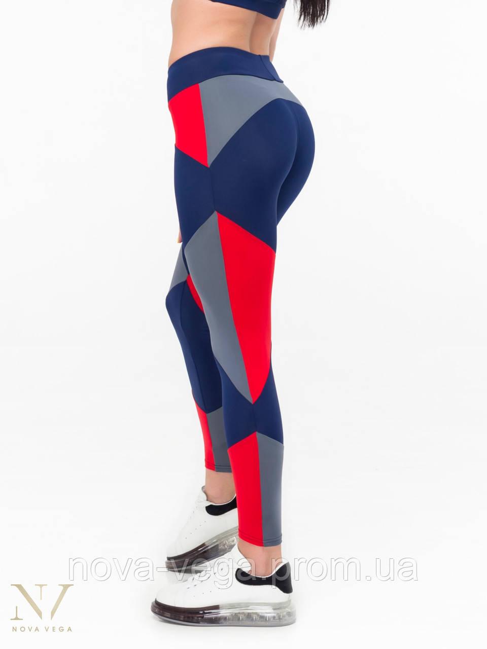 Спортивные Женские Лосины Nova Vega Joker Blue&Red&Grey