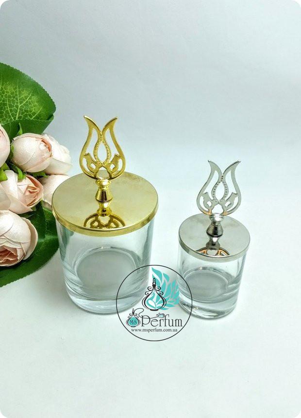 Скляні баночки для свічок з металевими кришками