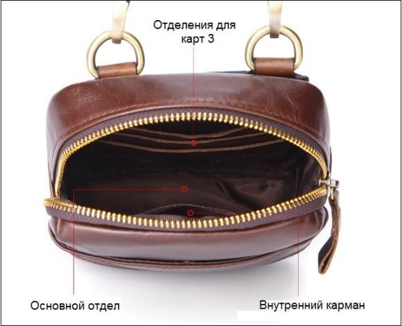Невелика чоловіча сумочка через плече Deep Person art 8173