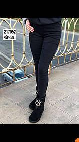 Женские джинсовые лосины на байке