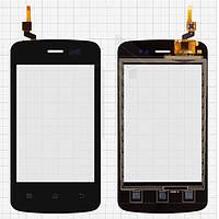 Touchscreen (сенсорный экран) для Fly E157, черный, оригинал