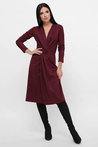 """Элегантное бордовое платье отрезное по талии """"Tracy"""", фото 2"""
