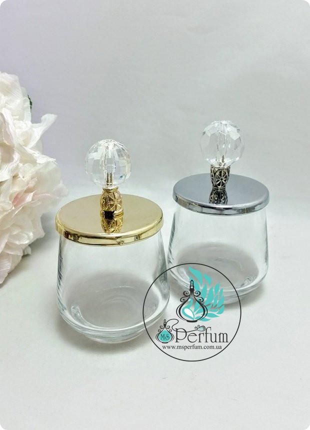 Стеклянные баночки для свечей с металлическими крышками