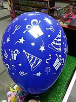 Шар воздушный на день рождения синий 1шт