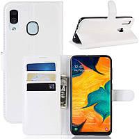 Чехол-книжка Litchie Wallet для Samsung Galaxy A20 / Galaxy A30 Белый