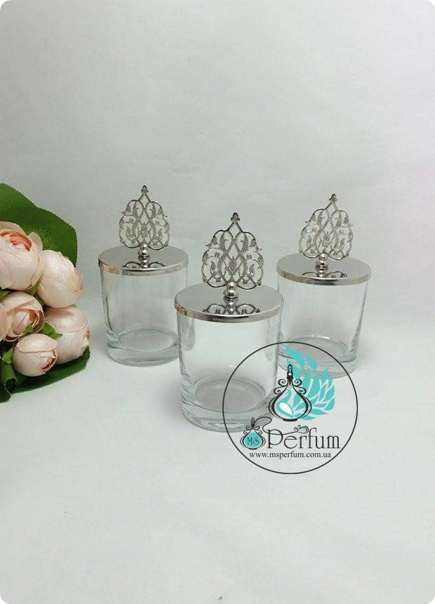 Скляні баночки для свічок з металевими кришками 220мл