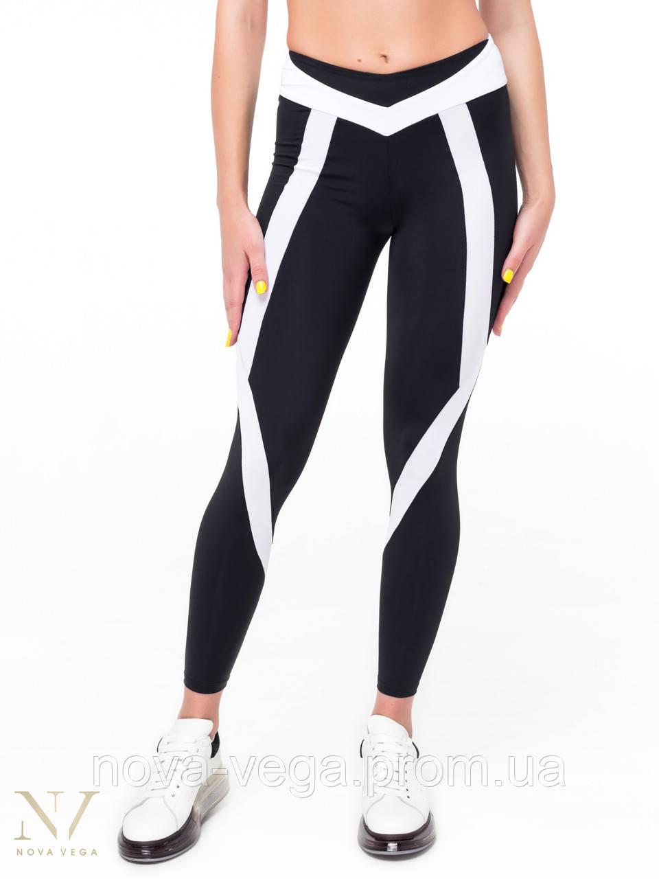 Современные Спортивные Женские Лосины Nova Vega Angel Black&White