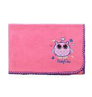 BABY ONO Одеяльце флисовое супер мягкое 75 x 100 см. Розовый 1406/06