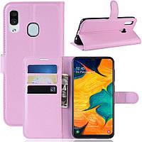 Чехол-книжка Litchie Wallet для Samsung Galaxy A20 / Galaxy A30 Светло-розовый