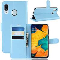 Чехол-книжка Litchie Wallet для Samsung Galaxy A20 / Galaxy A30 Голубой