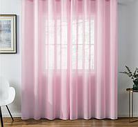 Готовая шифоновая тюль  Нежно розовый, фото 1