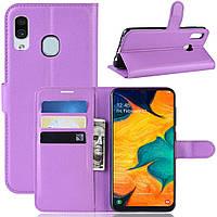 Чехол-книжка Litchie Wallet для Samsung Galaxy A20 / Galaxy A30 Фиолетовый