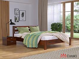 """Дерев'яне ліжко """"Рената Люкс"""" (8 кольорів)"""