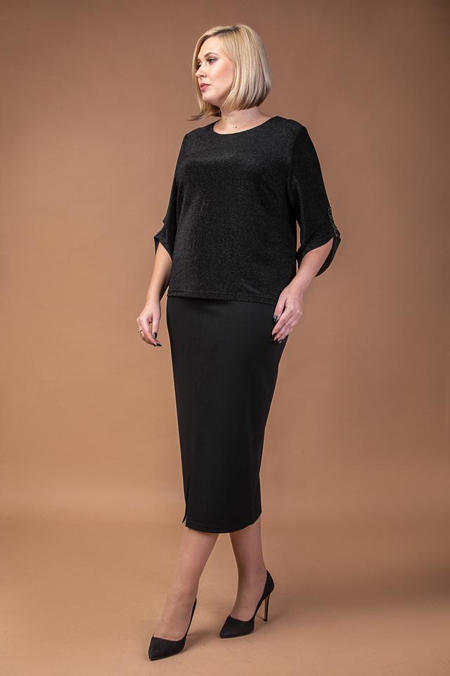 изображение женский праздничный костюм черного цвета