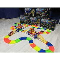 [ОПТ] Детская гоночная трасса Magic Tracks на 360 деталей с машинкой. Светящийся гоночный трек-конструктор.