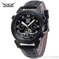 Механические часы с автоподзаводом Jaragar (black) - гарантия 12 месяцев