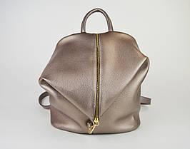 Сумка-Рюкзак кожаный бронзовый Voila 18849158