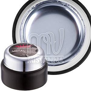 Металлизированный гель для дизайна Metalic Gel Master Professional, 5 мл серебро