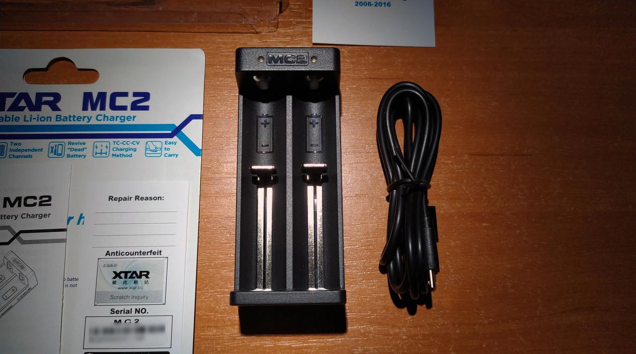 XTAR MC2 – простое и надежное зарядное устройство для литий ионных (Li-ion) аккумуляторов IMR, INR, ICR 18650
