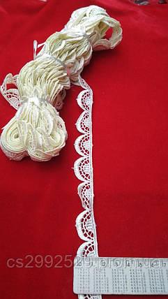 Кружево волны 9 метров. Кружево для пошива и декора. Цвет лимонный, фото 2