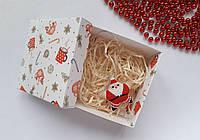 Новогодняя игрушка Звезда Дед Мороз из бисера ручной работы