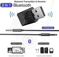 2 в 1 Bluetooth V5.0 KN-320 Аудио Передатчик и Приемник (авто,ТВ,компьютер) Адаптер. Блютуз