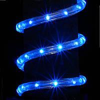 """Уличная Герметичная Светодиодная гирлянда Дюралайт """"Rope Light"""" 10 метров Синяя, 180 LED прозрачный силиконовы"""