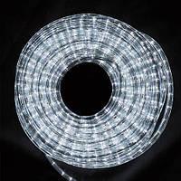 """Уличная Герметичная Светодиодная гирлянда Дюралайт """"Rope Light"""" 20 метров Белый, 360 LED прозрачный силиконовы"""