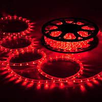 """Уличная Герметичная Светодиодная гирлянда Дюралайт """"Rope Light"""" 50 метров Красный, 900 LED прозрачный силиконо"""