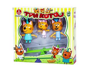 """Фігурки """"Три кота"""", PS660 (144шт/2) 3 героя, гойдалка, в кор."""