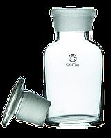 Склянка для реактивов EximLab 125 мл из светлого стекла с узким горлом и притертой пробкой