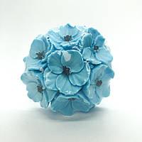 Мыло ручной работы Букет фиалок 110 г голубой Naturalina