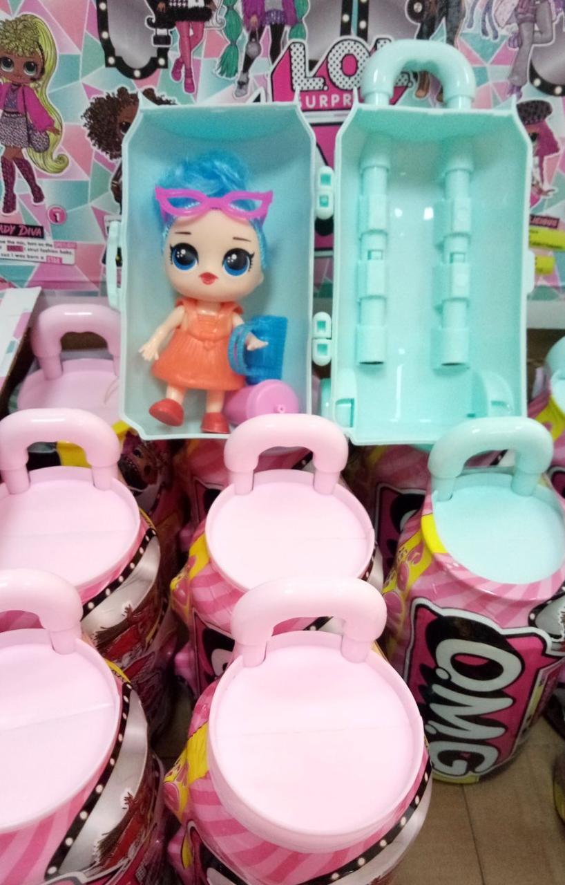 """Кукла сюрприз с волосами """"LOL O.M.G. Hairgoals """" чемодан Big 11,5 см"""